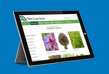 West Coast Seeds - Vegetable Seeds page displayed on surface pro