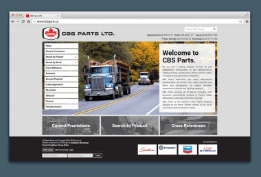 CBS Parts New Website Design