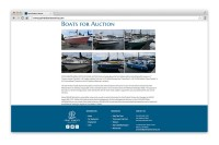 Point Roberts Marina - Boats for auction page displayed in browser