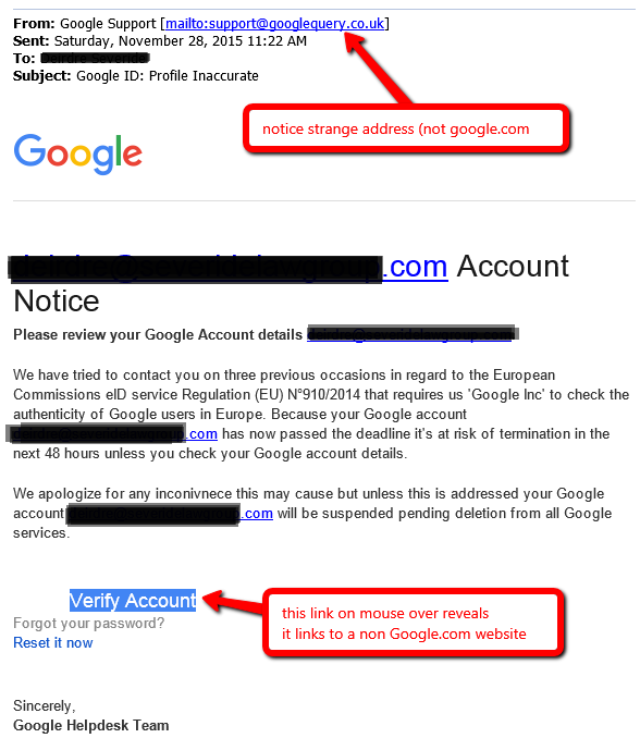 Google Verification of Profile ID scam