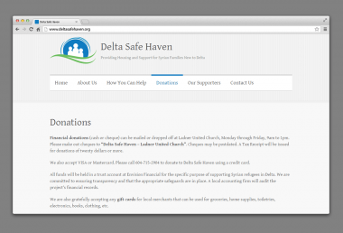 Delta Safe Haven New Website Development