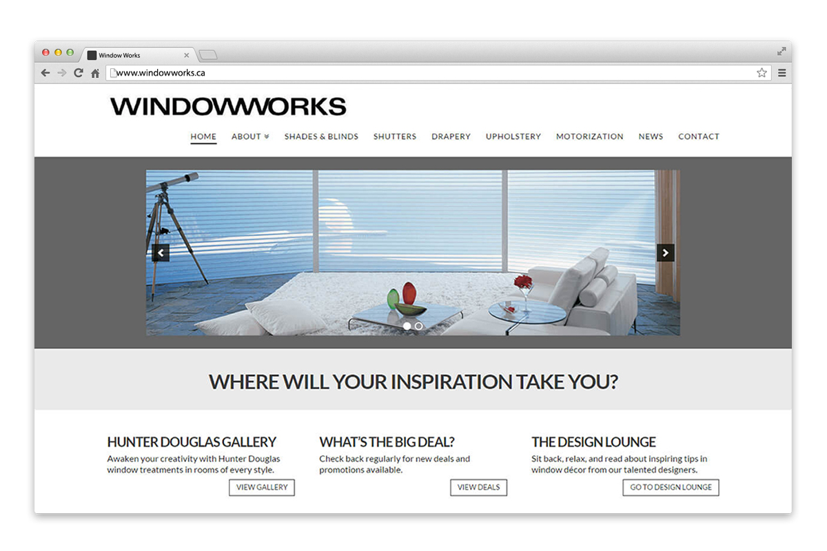 windowworks website on browser window
