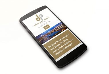 Decision Point Advisors website on a smartphone