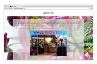wall flowers website about us page