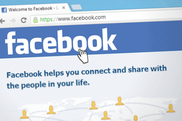 login page for Facebook