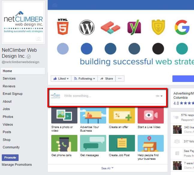 Facebook Business Homepage