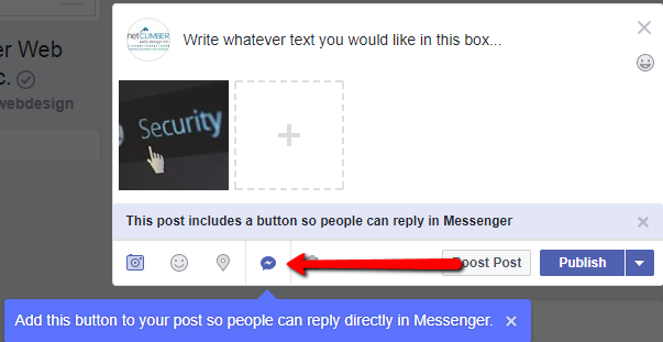 facebook business pages adding messenger
