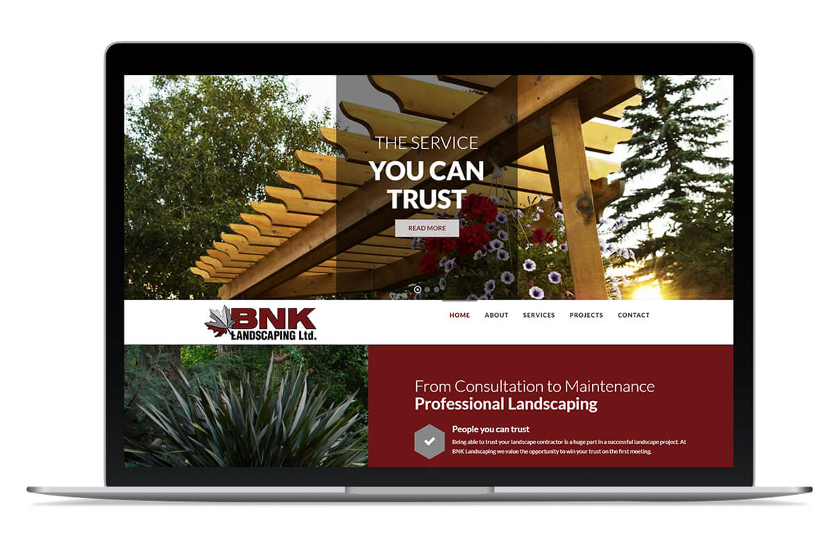 BNK Landscaping Home page
