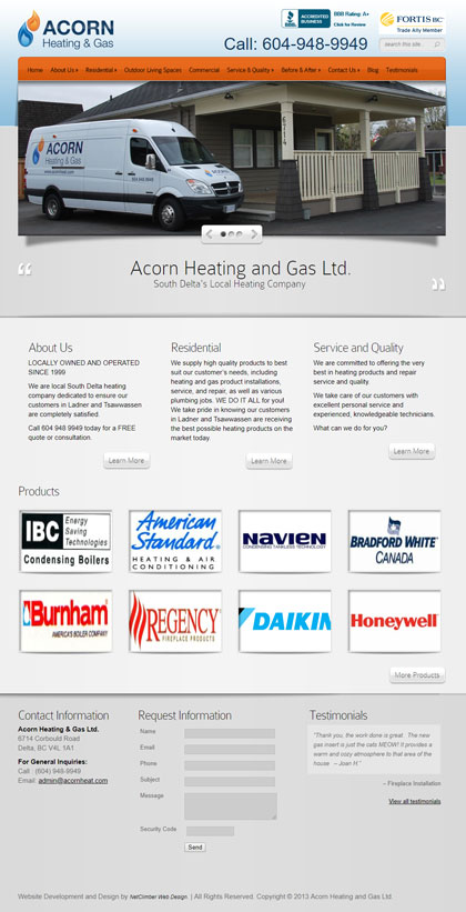 Acorn Heating BEFORE redesign