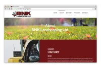 BNK Landscaping About page