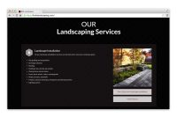BNK Landscaping Services page