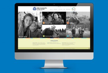 Delta Community Living Society home page on imac
