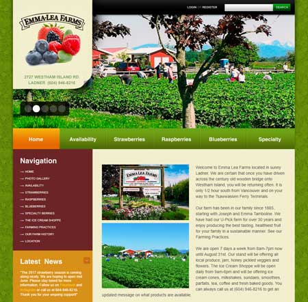 Emma Lea Farms website
