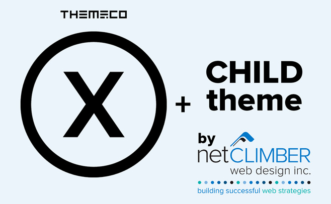 NetClimber X Theme Child branding image