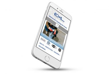 EXL Engineering website on iphone