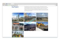 EXL Engineering website project gallery