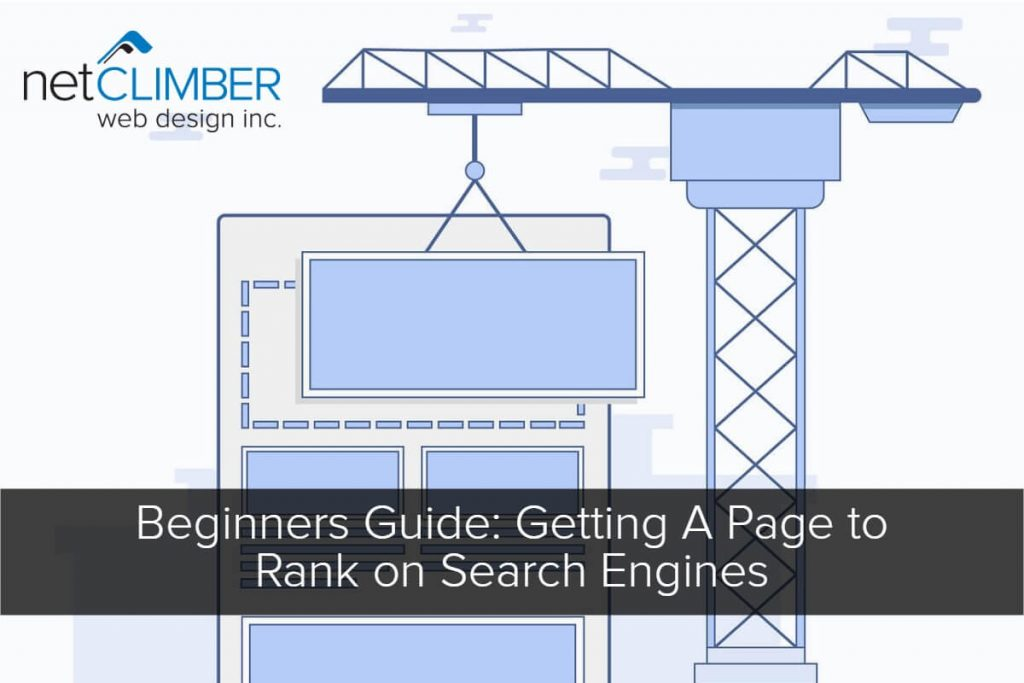 Beginners Guide to Ranking pages on Search graphic